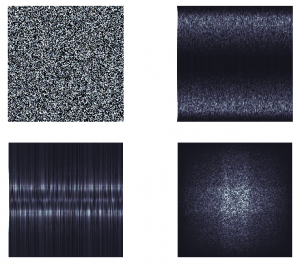 White noise and Low, Medium and High pass filters